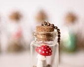 Toadstool Mini Terrarium Necklace