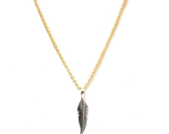 Tiny Feather Layering Necklace