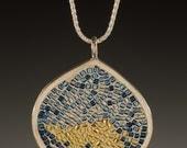 Micro Mosaic Pendants, Micro Mosaic Jewelry,  Sunlit River Pendant - Micro Mosaic Collection