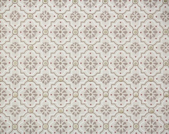1940's Vintage Wallpaper - Brown Gold and Red Geometric