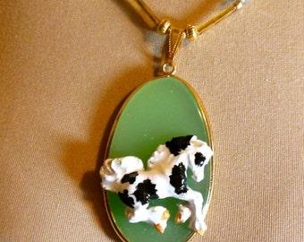 Gypsy Horse Foal Pendant Necklace