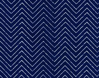 Cloud9 Cosmic Convoy Gamma Ray Navy Organic Cotton Fabric