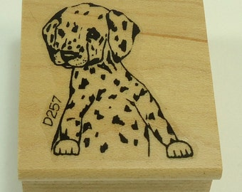 Dalmation Puppy Wood Mounted Rubber Stamp By Lasting Impressions
