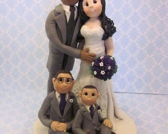 Handmade Interracial Cake Topper Etsy