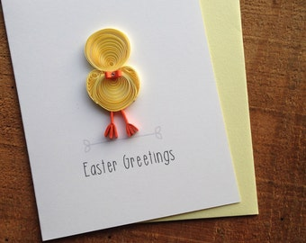 Quilled Yellow Easter Chic // Easter Greetings