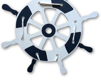 Custom Hand Painted Wood Wooden Ships Ship Wheel Nautical Nursery Decor