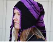 Knitting Pattern - Easy Chunky Stocking Cap with Ear Flaps - Instant Download