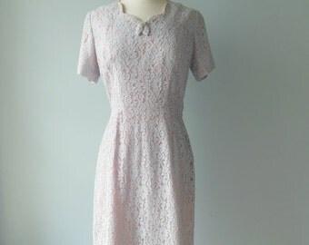 A Mendel Creation dress  • vintage 1950s dress • lace 50s dress