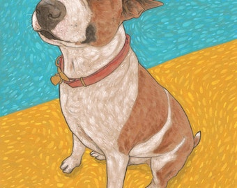 custom pet portrait - commissioned painting