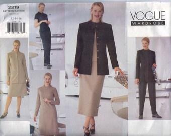 Misses Sewing Pattern Vogue Wardrobe 2219 Misses and Petite Dress Skirt Suit Jacket Pants Size 12 14 16 Bust 34 36 38 UNCUT  99