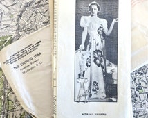 Mail Order H-3391 - Vintage 1930s Evening Dress Pattern with Sweetheart Neckline - Modeled by Loretta Young