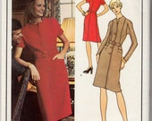 "Vintage Sewing Pattern Vogue 2901 Paris Original Balmain Dress Size 12 34"" Bust - Free Pattern Grading E-book Included"