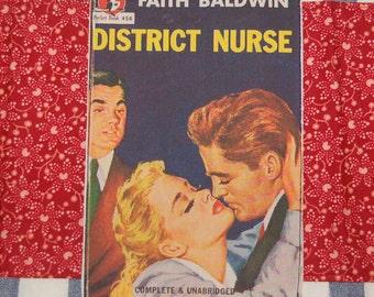 vintage nurse romance tea towel