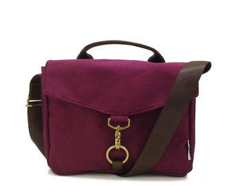 Kimball Burgundy Water Repellent Canvas Cross Body Messenger