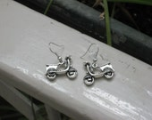 Motorcycle Vespa shaped tibetian silver earrings