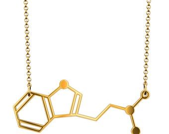 DMT Molecule Necklace - Gold