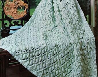 Baby Knitting Pattern, Baby Afghan Knitting Pattern, Kids Afgjan Knitting Pattern, Nursery Decor, INSTANT Download Pattern PDF (2313)