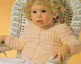 Baby Knitting Pattern, Baby Sweater Knitting Pattern, Baby Cardigan Knitting Pattern, INSTANT Download Pattern PDF (2325)