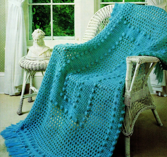 Free Crochet Pattern Bobble Afghan : Afghan Crochet Pattern Mohair & Wool Crochet Afghan Pattern