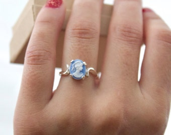 Sky blue - Marie cameo ring