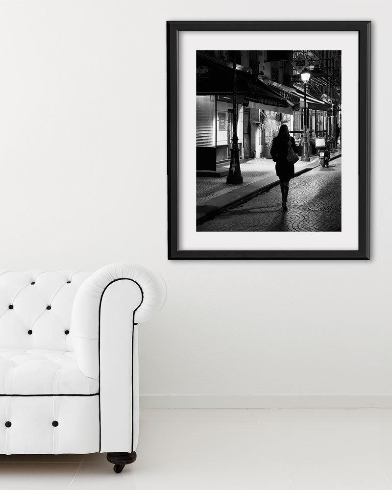 """Paris Print, Black and White Photography, """"Paris Noir 1"""" Extra Large Wall Art, Fine Art Print Paris Photography,  Film Noir"""