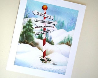 PRINT North Pole Trail 8x10 inch Giclée Fine Art Print