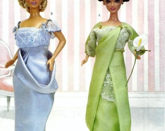 """The Delineator Girls Circa 1912 Gowns for 11 1/2"""" Fashion Doll Sewing Pattern Butterick 3057 Shipping to US INCLUDED"""