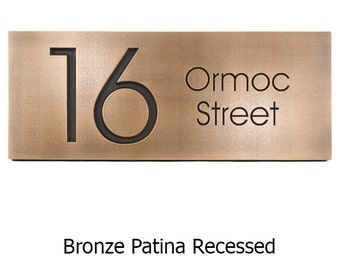 Modern Advantage Street Sign Home Address Numbers - 2 House Numbers 20x8 inches Custom for you by Atlas Signs and Plaques