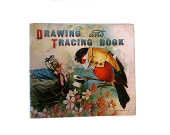 Antique Drawing and Tracing Book - 1898 - Victorian - Funny Animals