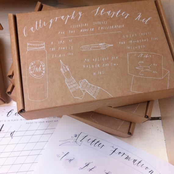 Calligraphy starter kit by alicegabb on etsy