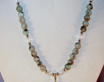 Fancy Jasper and Sesame Jasper Necklace