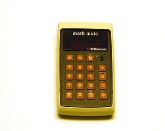 Vintage Pocket Bowmar Math Mate II Calculator