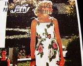 1970s Maxi Dress Pattern Misses size 12 14 UNCUT Womens Long Sundress with Shoulder Ties