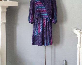 80s - Purple MCS New York  Party Dress - S