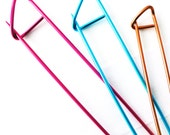 Colorful Stitch Holders Cable Needles Pins for Knitters and Crocheters - Three Sizes Available