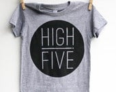 High Five - kid's t-shirt, hand printed