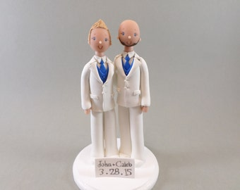 Custom Made Wedding Cake Topper Same Sex Couple