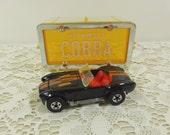1982 Hot Wheels Cobra, Black Cobra, Cobra Convertible, Mattel Hot Wheels Park N Plates, Die Cast Toy Car in Collectors Case, Collectible