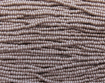 8/0 Opaque Mocha Pearl Terra Colorfast Czech Glass Seed Bead Strand (CW49)