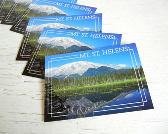 Washington Postcards | Mt St Helens | Pacific Northwest Souvenir Post Cards | Cascades | Portland | Seattle | Volcano