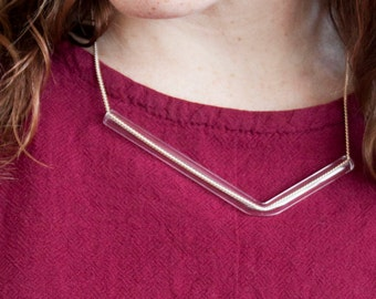 Minimal Glass Tube Necklace No. 1