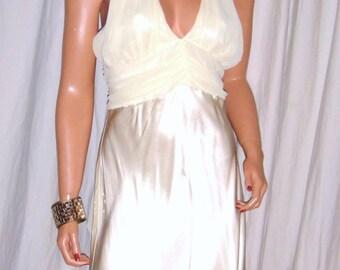 Vintage Studio Y Cream Halter Marilyn Monroe Dress 11