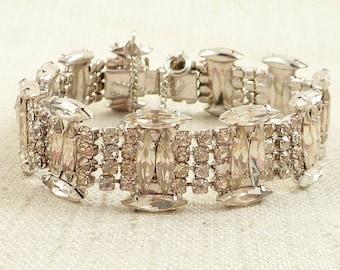 SALE --- Antique Art Deco Shapes and Sizes Rhinestone Bracelet