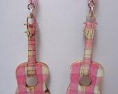 Rock-A-Billy Acoustic Guitar Earrings