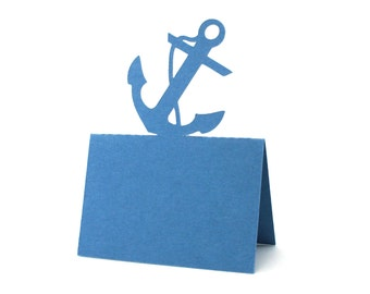 Anchor Place Cards set of 10 - Escort Cards,Coastal Wedding,Wedding Place Cards,Nautical,Baby Shower,Seating Card,Ocean,Rustic Wedding,Party