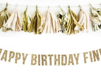 Custom Happy Birthday Banner. Glitter Garland Adult. 40th Birthday. Kids Parties. 30th Birthday. Adult Birthday. Gold Glitter