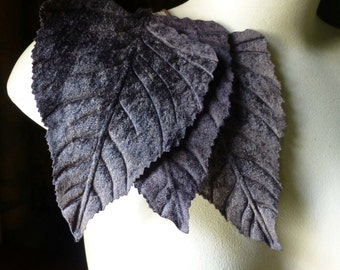 Velvet Leaves 3 Very Large in DARK CHOCOLATE for Bridal Headpieces, Hats, Floral Supply, Crafts ML 119
