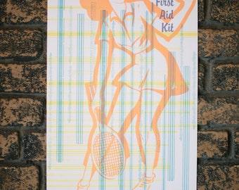 First Aid Kit Letterpress Gig Poster
