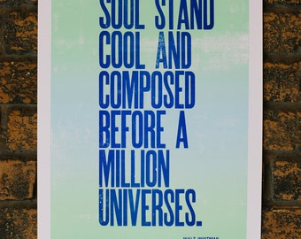 Walt Whitman Letterpress Quote Print