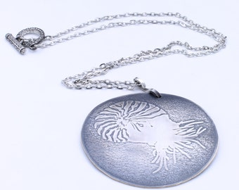 Sterling Silver Nautilus Ocean Necklace Pendant